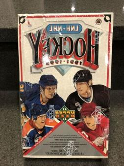 1991-1992 Upper Deck Hockey French Low SeriesWax Box 36 Pac
