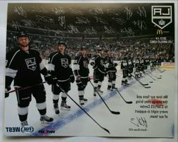 2013-14 Los Angeles Kings Team Photo Card Signatures Quick K