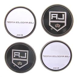 Four  Los Angeles LA Kings Double Sided Golf Ball Markers