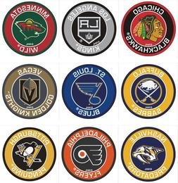 Hockey Round Area Rug Roundel Mat Fanmats Choose Your Team N