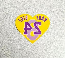 Kobe Bryant Gigi Lakers Heart Tribute Sticker Decal - Los An