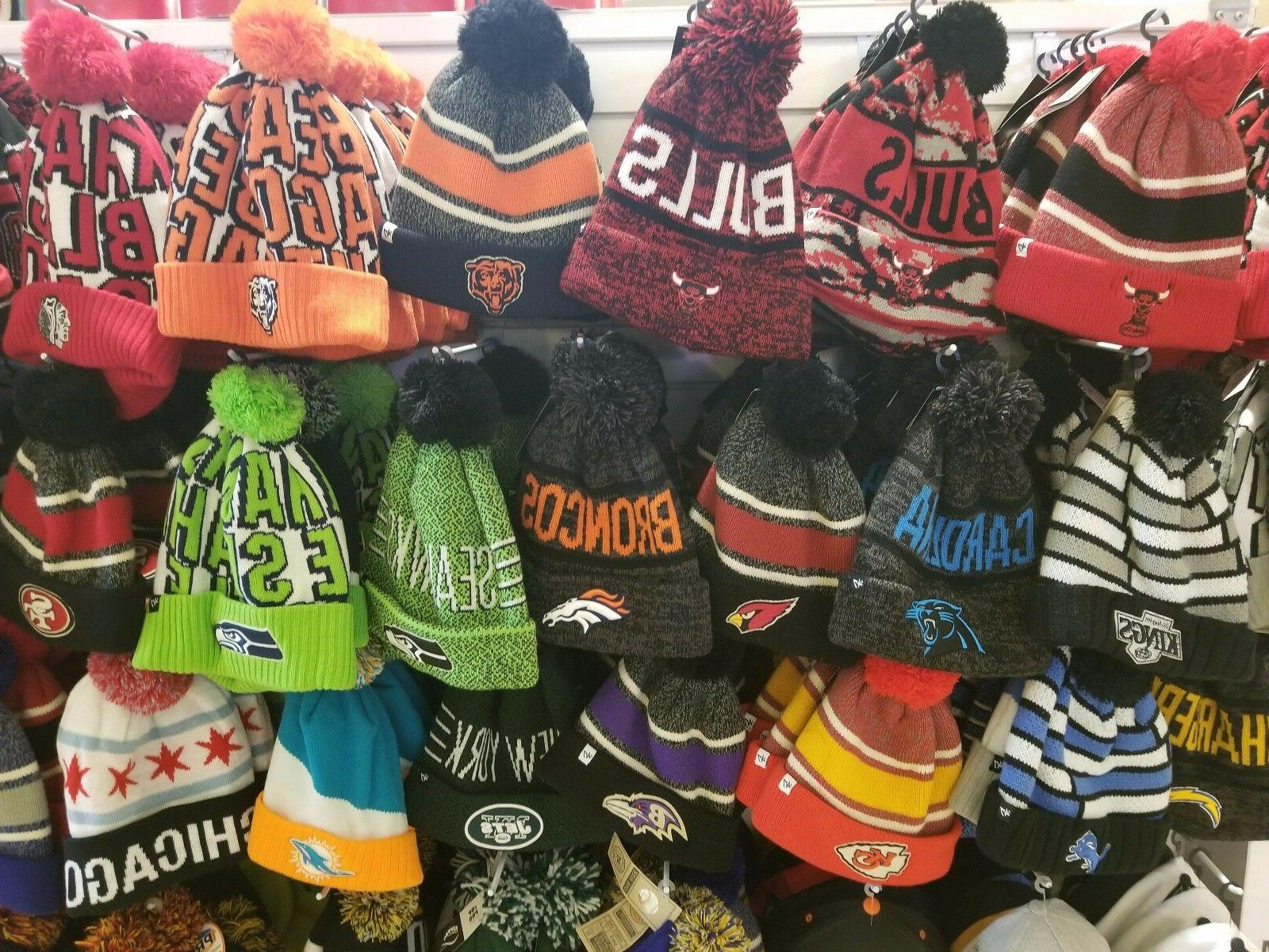 authentic brand nfl and nba winter hats
