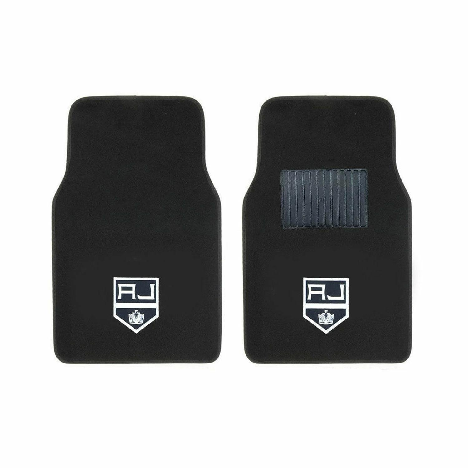 Hockey Los Angeles Seat Covers w/ Carpet Front Floor Mats 4PC