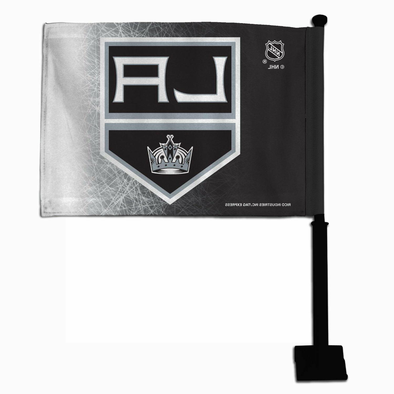 los angeles kings car black pole flag