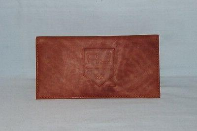 los angeles kings leather checkbook new brown