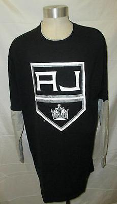 Los Angeles Kings Men's Long Sleeve Shirt Black w/ Gray Slee