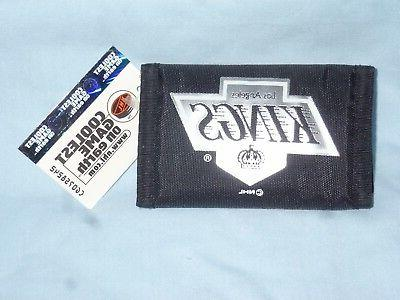 los angeles kings nylon trifold wallet by