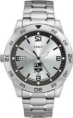 Men's Los Angeles LA Kings Watch Timex Citation Steel Watch