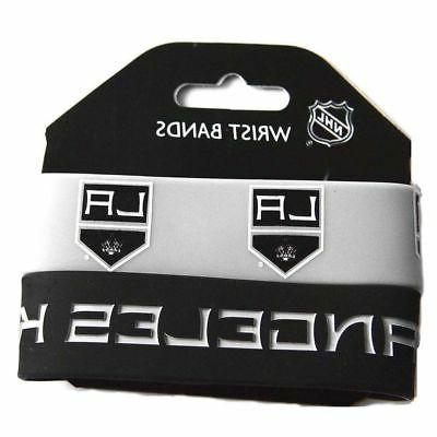 nhl los angeles kings silicone rubber bracelet