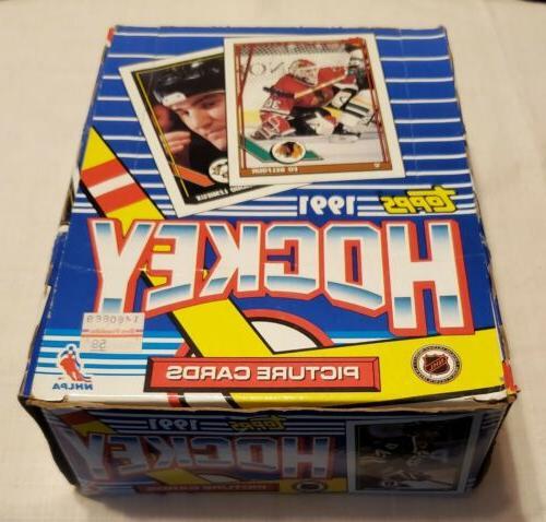 topps 1991 nhl hockey wax box 36