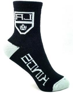 Los Angeles Kings Hockey Black & Gray Deuce Quarter Youth So