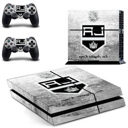 LA Los angeles kings NHL skin decal ps4 sony console + 2 con