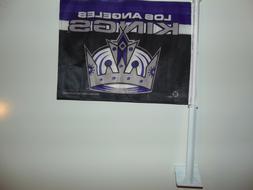 """Los Angeles Kings 15"""" x 11"""" LA Double-sided CAR WINDOW FLAG"""