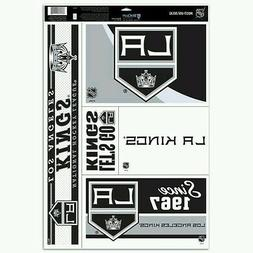 """LOS ANGELES KINGS 5 PIECE MULTI-USE DECALS 11""""X17"""" SHEET PER"""