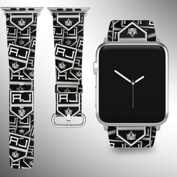 Los Angeles Kings Apple Watch Band 38 40 42 44 mm Fabric Lea