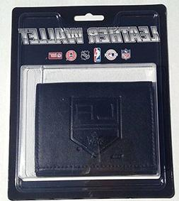 Los Angeles Kings Black Tri-Fold Leather Wallet