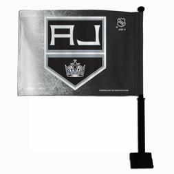 Los Angeles Kings CAR  Black Pole  FLAG  TWO SIDE New Style