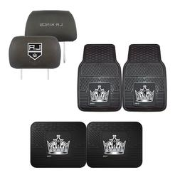 Los Angeles Kings Car Truck Front Rear Floor Mats Set & Head