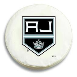 Los Angeles Kings HBS White Vinyl Fitted Spare Car Tire Cove