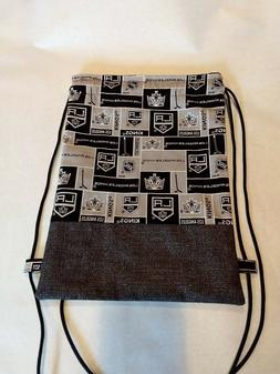LOS ANGELES KINGS HOCKEY Drawstring Book bag Travel Backpack