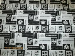 LOS ANGELES KINGS HOCKEY FABRIC 1/2 YD PIECE BRAND NEW SPORT