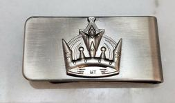 Los Angeles Kings Hockey NHL Money Clip Gun Metal Gray W/ Cr