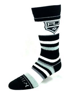 Los Angeles Kings Hockey Women's Fuzzy Striped Crew Socks