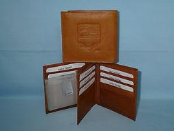 LOS ANGELES KINGS   Leather BiFold Wallet    NEW    brown 4