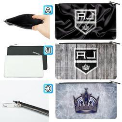Los Angeles Kings Leather Pen Pencil Case Makeup Bag Pouch S