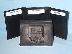 LOS ANGELES KINGS    Leather TriFold Wallet    NEW    black