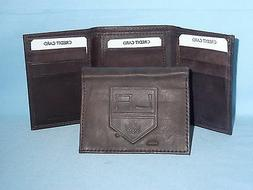 LOS ANGELES KINGS    Leather TriFold Wallet    NEW    dkbr 3