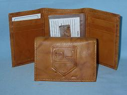 LOS ANGELES KINGS   Leather TriFold Wallet    NEW    brown 3