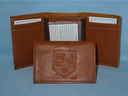 los angeles kings leather trifold wallet new