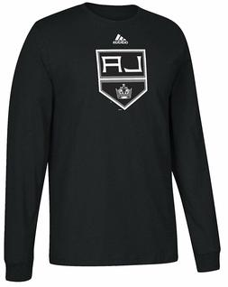 Los Angeles Kings Mens Adidas Black Primary Logo Long Sleeve