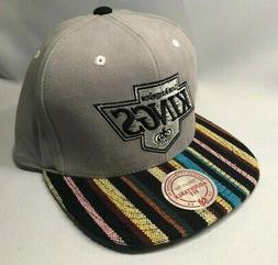 LOS ANGELES KINGS MITCHELL & NESS NATIVE STRIPE SNAPBACK HAT