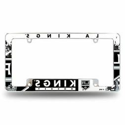 Los Angeles Kings NHL Chrome Metal License Plate Frame w/ Bo
