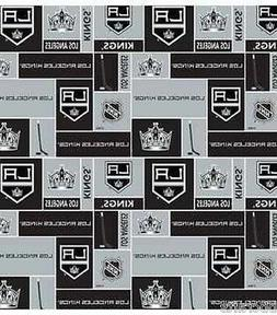LOS ANGELES KINGS NHL HOCKEY 100% COTTON FABRIC MATERIAL CRA