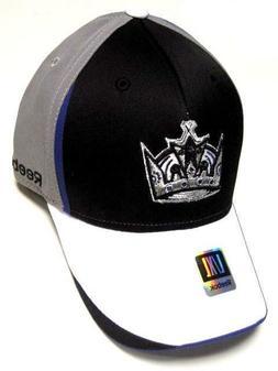 Los Angeles Kings NHL Reebok Pro Shape Hat Cap Black Gray Wh