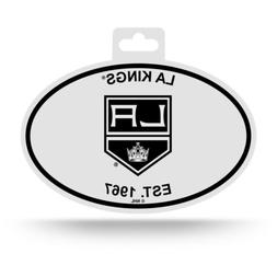 Los Angeles Kings Oval Decal Sticker NEW!! 3x5 Inches Free S