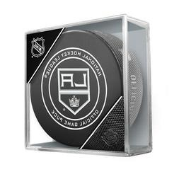 Los Angeles Kings Sherwood Official NHL Game Puck in Cube