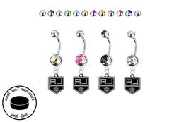 Los Angeles Kings Silver Belly Button Navel Ring - Customize