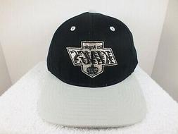 Los Angeles KINGS Snapback Hat Script Black NHL Retro VTG Ho