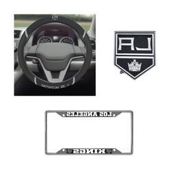 Los Angeles Kings Steering Wheel Cover, License Plate Frame,