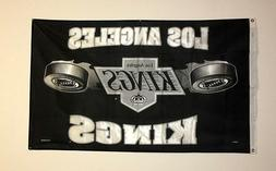 "Los Angeles ""LA"" Kings 3x5 Ft Banner or Flag Hockey Grommets"