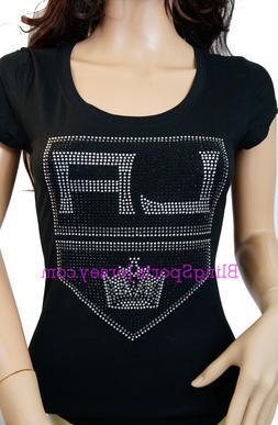 Los Angeles LA Kings Jersey Rhinestone Bling T-shirt