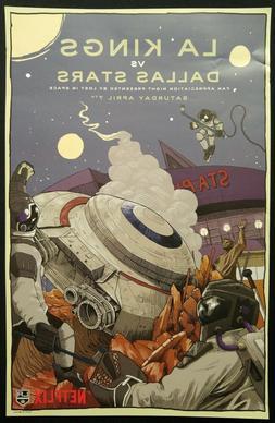 Los Angeles LA Kings Lost In Space Poster Art Print 🏒 Net