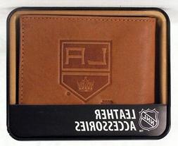 Los Angeles LA Kings NHL Embossed Leather Billfold Wallet NE