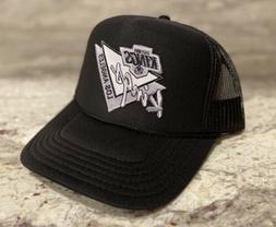 NEW LOS ANGELES KINGS BLACK CAP HAT 5 PANEL HIGH CROWN TRUCK