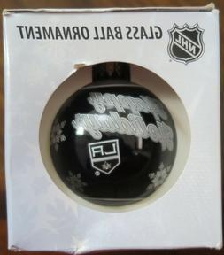 New Los Angeles Kings Print Ball Glass Christmas Ornament NH