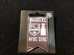 NEW - Los Angeles Kings Stanley Cup 2X Champions Lapel Pin -